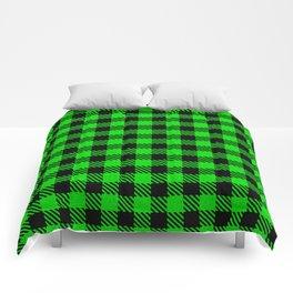 Lime  Bison Plaid Comforters