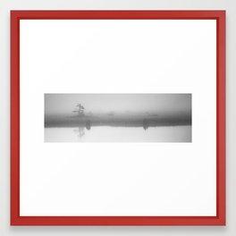 Reflecting on a Foggy Morning Framed Art Print