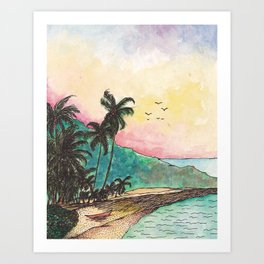 San Blas sunset Art Print