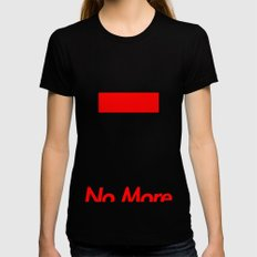 Supreme No More Womens Fitted Tee Black MEDIUM