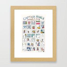 Captain Koala Framed Art Print