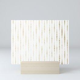 NYC Nights Gold Polka Dot Stripes Mini Art Print