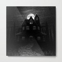 Drawlloween 2104: Haunted House Metal Print