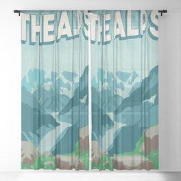 The Alps Sheer Curtain
