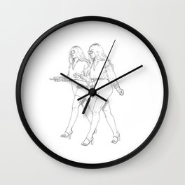 The twins series Wall Clock