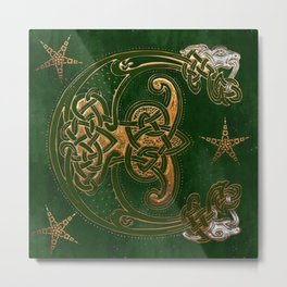 Hunter and Gold Celtic Metal Print