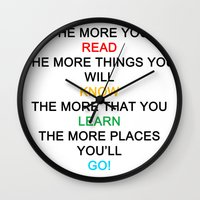 quotes Wall Clocks featuring quotes by kawaiicookie