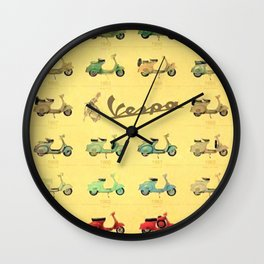1969 Vintage Vespa Motor Scooter 1946 to 1969 Advertisement Model Poster Wall Clock