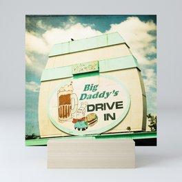 Big Daddy's drive in Mini Art Print