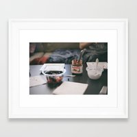 nutella Framed Art Prints featuring NUTELLA by Lauren Siegrist