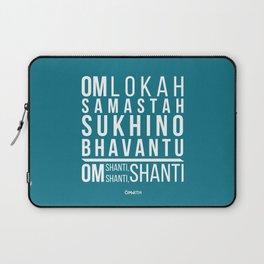 Lokah Samastah Mantra Yoga Blue Laptop Sleeve