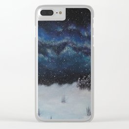 Winter's Welcome Clear iPhone Case