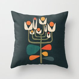 Retro botany Throw Pillow