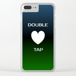 Double Tap Clear iPhone Case