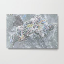 Squaw Valley Resort Trail Map Metal Print