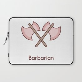 Cute Dungeons and Dragons Barbarian class Laptop Sleeve