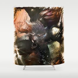 League of Legends WARWICK Shower Curtain