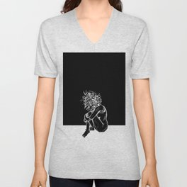 Blossom in the Void Unisex V-Neck