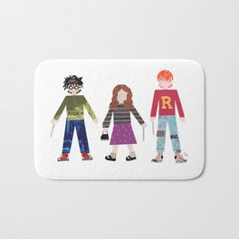 Harry, Hermione, and Ron Bath Mat
