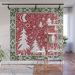Winter. Christmas. Wall Mural