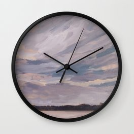 Sunset over the Lake Wall Clock