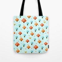 mushroom Tote Bags featuring Mushroom by Kakel