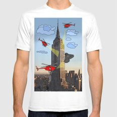 EMPIRE STATE COMIC White Mens Fitted Tee MEDIUM
