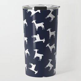 ALPACA PATTERN INDIGO - ALL ABOUT LLAMAS Travel Mug