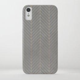 Gold & Grey Chevron iPhone Case