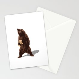 grizzlies need hugs too Stationery Cards