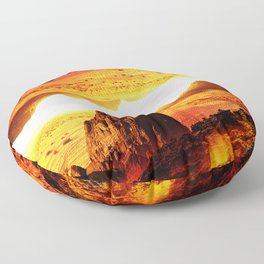 Lava Isolation Floor Pillow