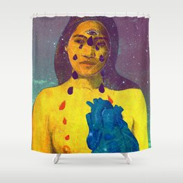 From the inside out Shower Curtain