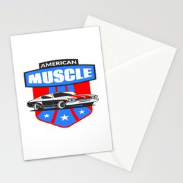 American Muscle Car Stationery Cards