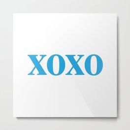 Blue XOXO Metal Print