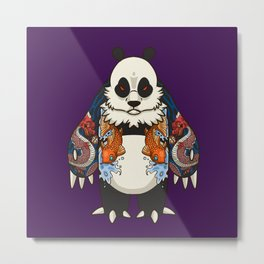 Yakuza Panda - DragonKoi  Metal Print