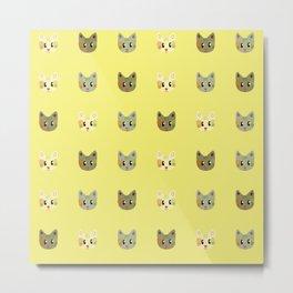 happy cats pattern Metal Print