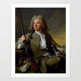 Jean-Marc Nattier - Portrait of a Gentleman as a Hunter Art Print