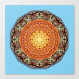Colors of Rust 894_R / mandala-style-rust Canvas Print