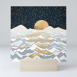 Golden Ocean Mini Art Print