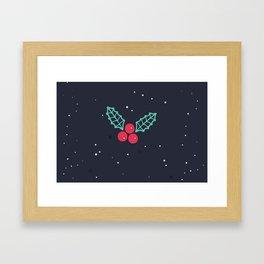 Season's Greetings Mistletoe Print Framed Art Print
