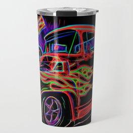 Neon Ford F-100 Pick-up Truck Travel Mug