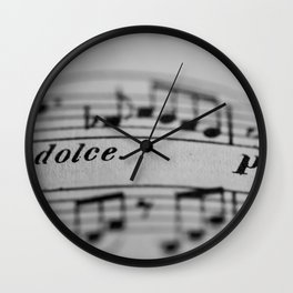 The Sweetness of Life #music#dolce#decor Wall Clock