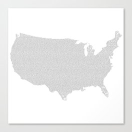 US constitution - map Canvas Print