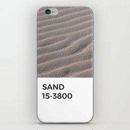 Sand Taupe Beige Tan Natural Tonal Pantone Chip iPhone Skin