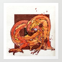 Fire Elemental Art Print