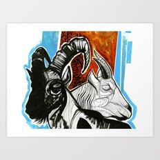 ibex and mountain goat Art Print