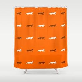 Orange Foxes! Shower Curtain