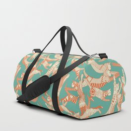 cat party jade orange Duffle Bag