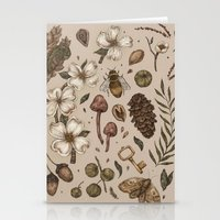 Stationery Cards featuring Nature Walks (Light Background) by Jessica Roux