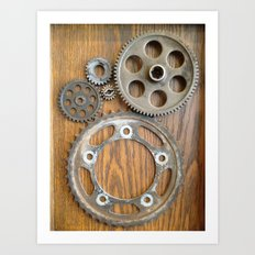 Wheels 2 Art Print